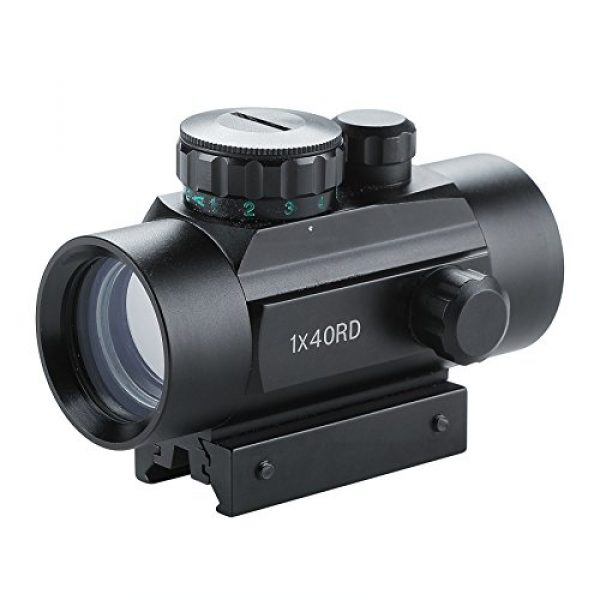 Pinty Airsoft Gun Sight 1 Pinty Tactical 1x30mm Reflex Red Green Dot Sight Riflescope with Free 20mm Mount Rails