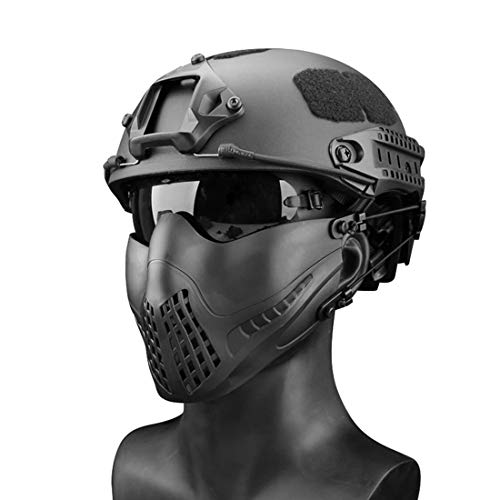Freahap Airsoft Mask 1 Freahap Airsoft Half Face Mask Antifog Mask for Cycling Airsoft Paintball Party