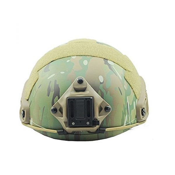 ATAIRSOFT Airsoft Helmet 3 ATAIRSOFT MH Type Tactical Paintball Adjustable Fast Helmet w/Side Rails and NVG Mount Multicam MCˆM/L
