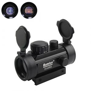 Bumlon Airsoft Gun Sight 1 Bumlon Red Green Dot Sight Rifle Scope Reflex Holographic Optics Tactical Fits 11mm/ 20mm Rail with Flip up Lens Cover for Airsoft Gun