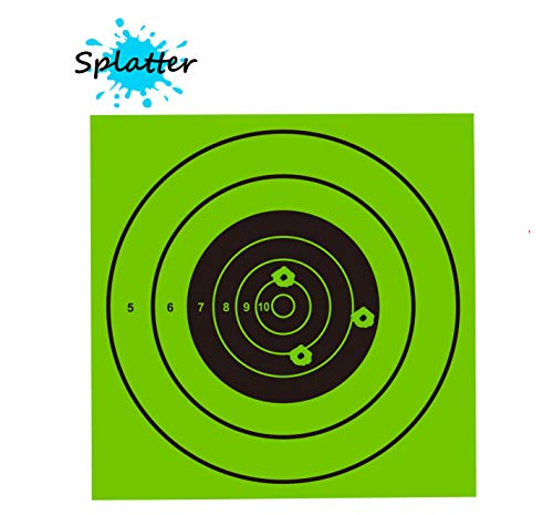 Pop Resin Airsoft Target 1 Pop Resin Splatter Shooting Target Air Shot Paper Targets-5.5 by 5.5-Fits Gamo Cone Traps Metal Box BB Catcher Target Holder Pellet Trap for Air Rifle/Airsoft Pistol