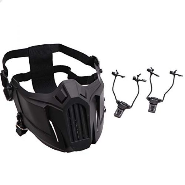 Fansport Airsoft Mask 3 Fansport Airsoft Mask Creative Protective Half Face Mask Outdoor Game Mask Costume Mask Outdoor Sports Masks