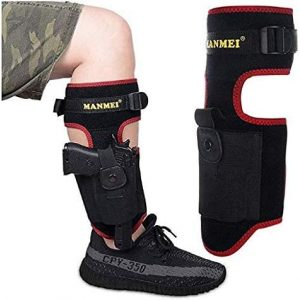 MANMEI  1 MANMEI Ankle Holster for Concealed Carry Pistol with Pocket