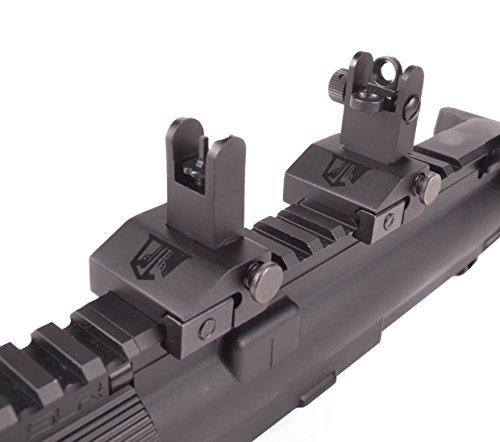 OZARK ARMAMENT Airsoft Gun Sight 7 OZARK ARMAMENT Flip Up Backup Battle Sights Picatinny Mount Flat-top Upper Co-Witness Iron Sights BUIS