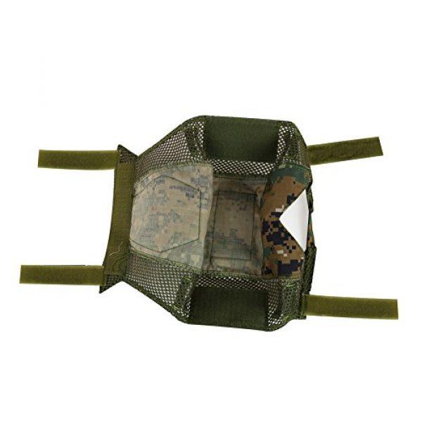 ATAIRSOFT Airsoft Helmet 5 ATAIRSOFT Airsoft Tactical Military Combat Helmet Cover for PJ/BJ/MH Type Fast Helmet Back Pouch (DW)