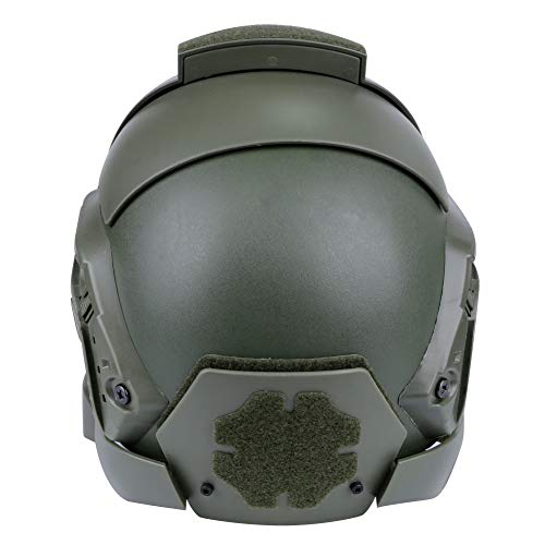 Brave outdoor Airsoft Helmet 4 Tactical Helmet Protection Fast Helmet Full Face Mesh Goggles for Airgun Paintball Mask CS Outdoor Activities Military Movie