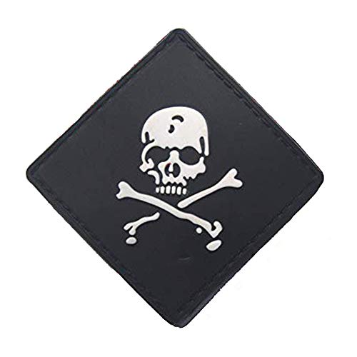 Morton Home Airsoft Patch 1 Morton Home Set I Airsoft Paintball Tactical Military Rubber Badges PVC Rubber 3D Morale Patch (Black Skull Cross)