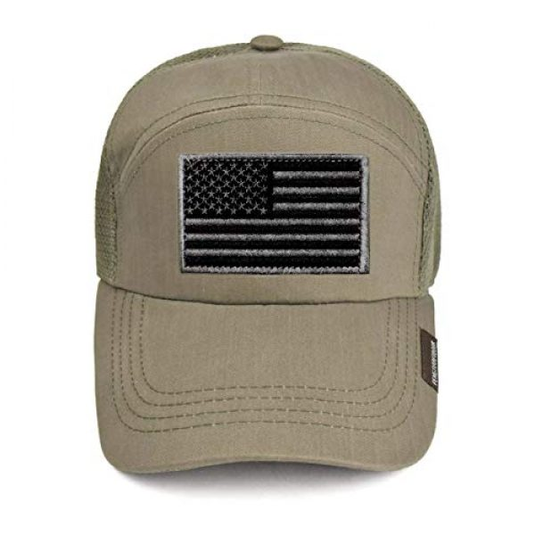 Ever Craft Airsoft Morale Patch 3 Ever Craft Morale American Flag Patch - Heavy Duty for Tactical Gear or USA Military Uniform - Premium Hook and Loop Tactical Patches for Backpacks Caps Hats Jackets Pants (Black & Gray)