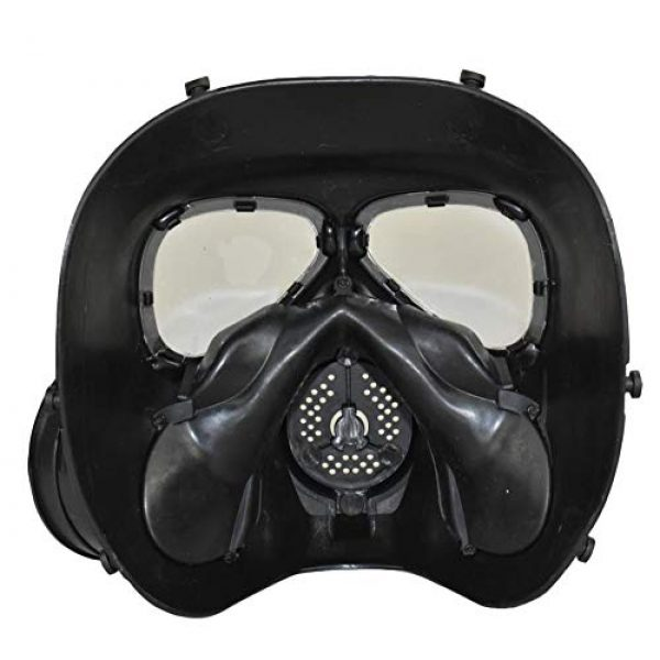 JFFCESTORE Airsoft Mask 4 JFFCESTORE Airsoft Tactical Protective Mask M88 Helmet Full Face Eye Protection Skull CS Mask Adjustable Strap One Size fits All Airsoft BB Gun CS Game Party