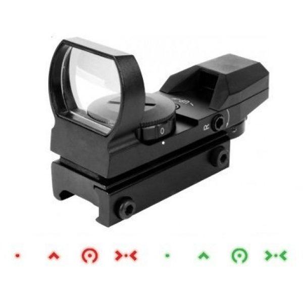 AIM Sports Airsoft Gun Sight 1 AIM Sports Operator Edition Dual Illuminated Reticle Reflex Airsoft Gun Sight w/ 4 Special Edition Reticle Patterns (Dot
