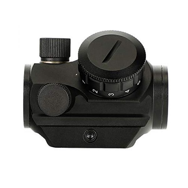 ohhunt Airsoft Gun Sight 7 ohhunt 1X25mm 3 MOA Red Dot Sight Low Power Compact Red Dot Scope 20mm Weaver Picatinny Mount