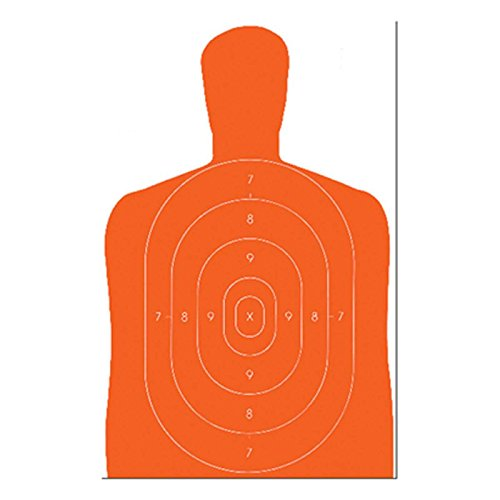 ACTION TARGETS Airsoft Target 1 ACTION TARGETS B-27E Orange ECON ORG SIL TRGT 100 Pack