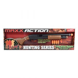 Sunny Days Entertainment  1 Sunny Days Entertainment Pump Action Shotgun with Realistic Sounds and Ejecting Play Shells | Hunting Role Play Toy | Cowboy Costume for Kids Maxx Action