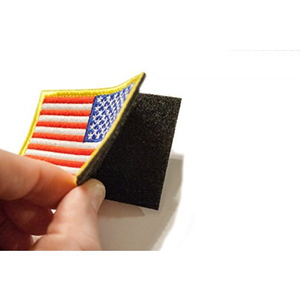 Tekma Sport Airsoft Patch 4 Tekma Sport American Flag Hook and Loop Tactical Patch Combination Pack, Standard and Reverse