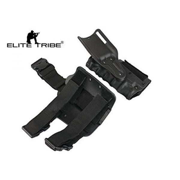 Elite Tribe  2 Elite Tribe Army Military Gun Holster Airsoft SWAT Shooting Holster Combat Tactical Modle Waist Leg Holster