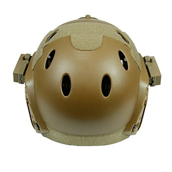 Wildoor Airsoft Helmet 4 Airsoft Tactical Fast PJ Helmet Camouflage with Removable Full Face Mask Goggles for Hunting Shooting Wargame Military
