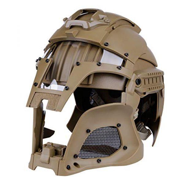 LEJUNJIE Airsoft Helmet 7 LEJUNJIE Tactical Military Ballistic Helmet Side Rail NVG Shroud Transfer Base Army Combat Airsoft Paintball Full Face Mask Helmet