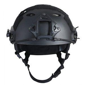 iMeshbean Airsoft Helmet 2 iMeshbean Airsoft SWAT Tactical Helmet Combat Fast PJ Helmet (23-Sand)