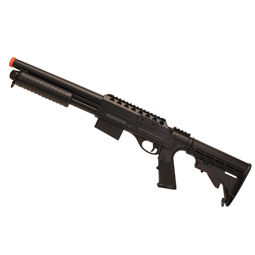 Game Face  1 GameFace ASGM47 VooDoo Spring-Powered Single-Shot Pump Action Airsoft Shotgun With Sling Mounts And Sling