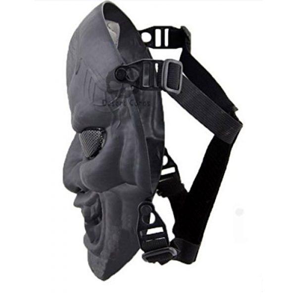 phoenix outdoor Airsoft Mask 3 phoenix outdoor Japanese Samurai Metal Mesh Full Face Protective Airsoft Mask -Permance Goggle-Black-Halloween Mask