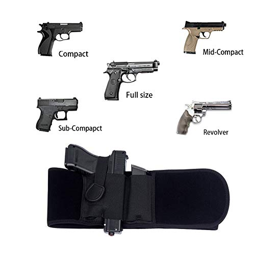 UNKNOK  5 UNKNOK Belly Band Holster Fit Most Gun Comfortable Hidden Tactical Holster Left and Right Universal Waistband Handgun Carry for Concealed Carry IWB Gun Holsters for Men and Women