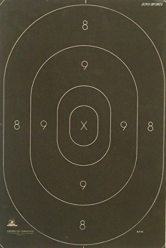 CHLTargets.com Airsoft Target 1 Official NRA B-27C Shooting Range Target Center Official Law Enforcement NRA Police Standard Silhouette 12 3/8 x 18 1/2