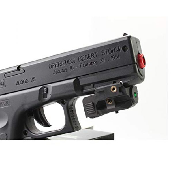 TPO Airsoft Gun Sight 3 TPO GL01 Green Laser Sight Fit Picatinny Rail with Rechargeable Battery for Pistols & Handguns