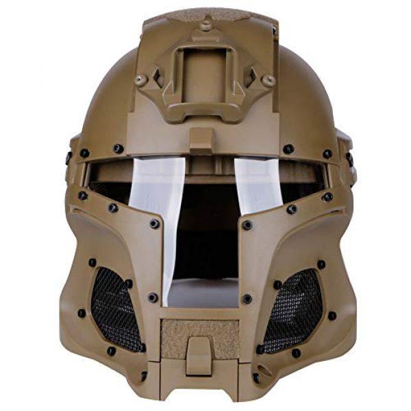 LEJUNJIE Airsoft Helmet 2 LEJUNJIE Tactical Military Ballistic Helmet Side Rail NVG Shroud Transfer Base Army Combat Airsoft Paintball Full Face Mask Helmet
