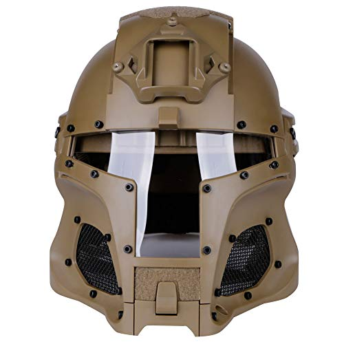 LEJUNJIE Airsoft Helmet 2 LEJUNJIE Tactical Military Ballistic Helmet Side Rail NVG Shroud Transfer Base Army Combat Airsoft Paintball Full Face Mask Helmet