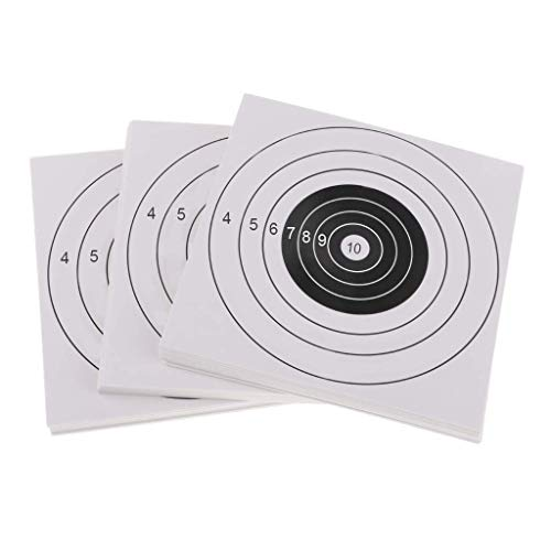 YouOK Airsoft Target 2 YouOK Air Shot Paper Targets - 8.5 by 8.7 - Fits Gamo Cone Traps and Metal Box BB Catcher Target Holder Pellet Trap for Air Rifle/Airsoft Pistol (White)