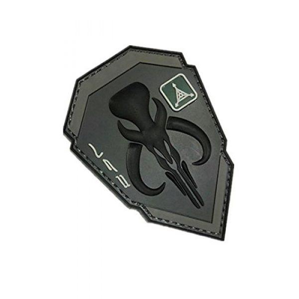 PVC PATCH Airsoft Morale Patch 3 Star Wars Boba Fett Mandalorian Bantha Skull 3D Tactics Military Patch 3D PVC Patch (Color2)