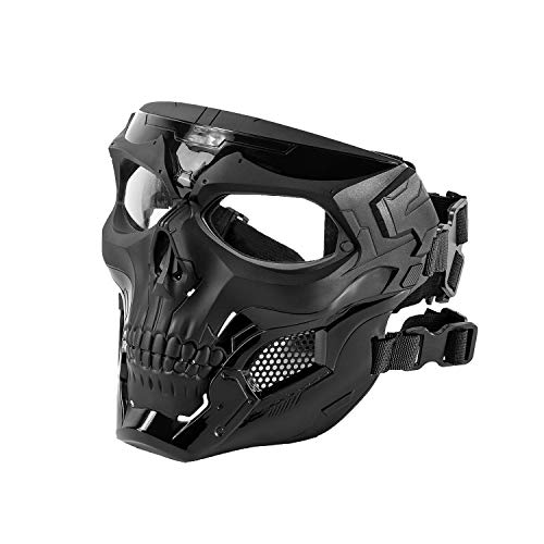 Black Orca Airsoft Mask 1 Black Orca Skull Full-Face Mask for Airsoft Helmet