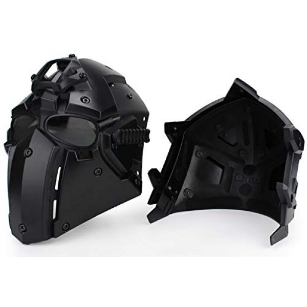 LEJUNJIE Airsoft Helmet 2 LEJUNJIE Tactical Airsoft Helmet Full Face Protection Mask Goggles Hunting Paintball Shooting Military Motorcycle Cosplay Movie Prop