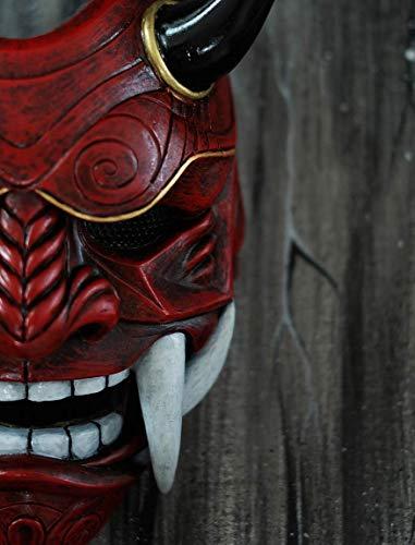 tripple_777 Airsoft Mask 3 tripple_777 Samurai Assassin Demon Oni Airsoft Mask BB Gun Halloween Costume Ninja Warrior Evil Cosplay red DA01