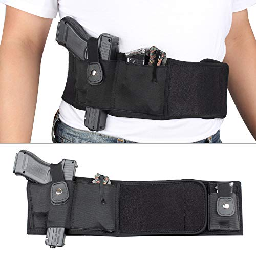 LIVIQILY  7 LIVIQILY Tactical Belly Band Gun Holster Right-Hand Concealed Carry Invisible Elastic Waist Pistol Holster Girdle Belt