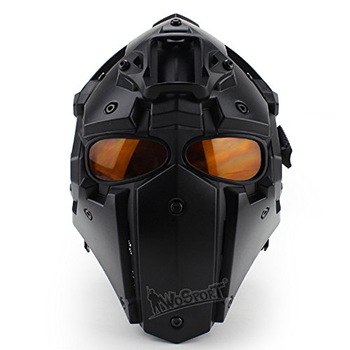 LEJUNJIE Airsoft Helmet 1 LEJUNJIE Tactical Airsoft Helmet Full Face Protection Mask Goggles Hunting Paintball Shooting Military Motorcycle Cosplay Movie Prop