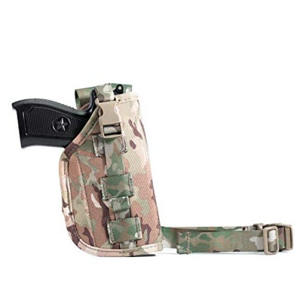 LIVIQILY  6 LIVIQILY Camouflage Tactical Molle Pistol Thigh Gun Holster Leg Holster Adjustable Pistol Carrier Airsoft Hunting Case Vertical Accessories