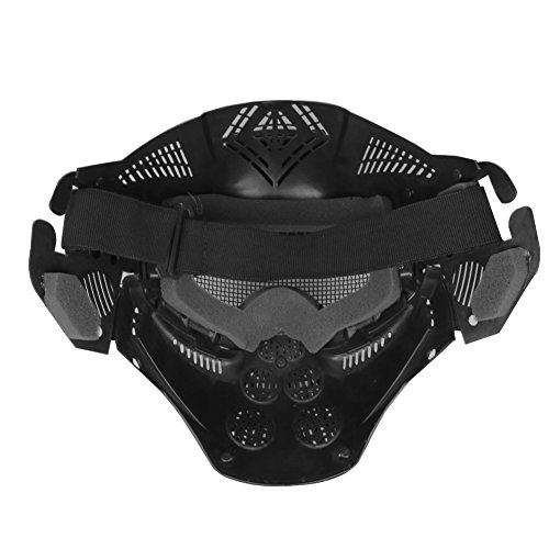A&N Airsoft Airsoft Mask 3 WoSporT Tactical Transformers Leader Mask Steel Mesh Breathable Full Face Safety CS Field Airsoft Wargame Paintball Army Masks - Black