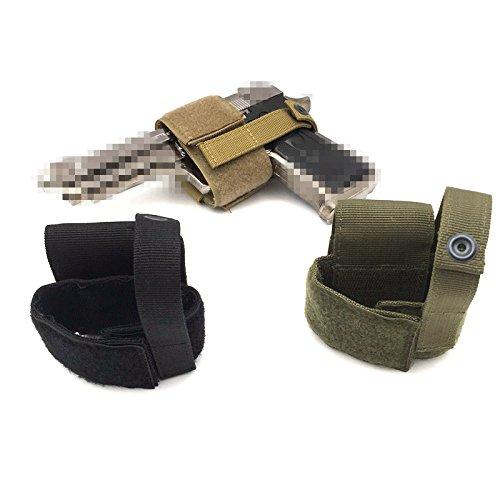 HWZ  2 HWZ Tactical Universal Gun Holster Patch Modular Pistol Holster Combat Airsoft Simple Hook & Loop Pistol Holster