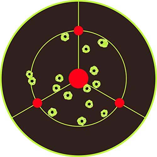 iFymei Airsoft Target 7 iFymei Shooting Targets Splatter Targets for Shooting Self Adhesive Reactive Paper Targets - 8 inch 100 & 50 & 20 Pack Great for Gun Rifle Pistol Bb Gun Airsoft Pellet Gun Air Rifle