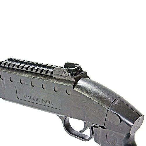 BBTac  6 bbtac airsoft shotgun pump action (starter shotgun series) - pistol grip airsoft shotgun - high bb capacity - 300 fps+ w/ 6mm 0.12g bbs with bbtac warranty & tech support(Airsoft Gun)
