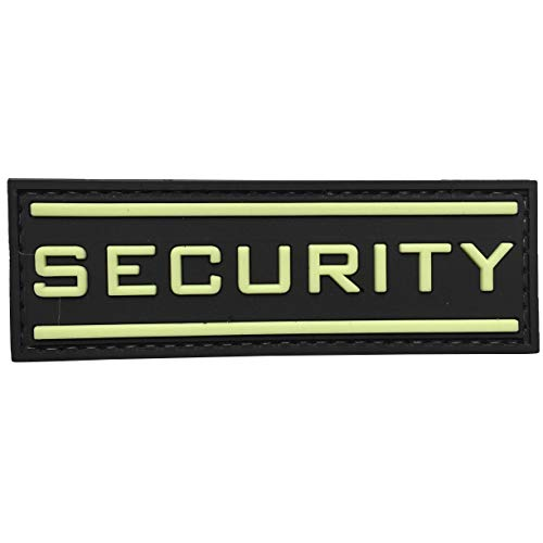 uuKen Airsoft Patch 1 Security Glow in The Dark 3D PVC Rubber Tactical Uniform Patch Airsoft with Hook Fastner by uuKen Tactical Gear