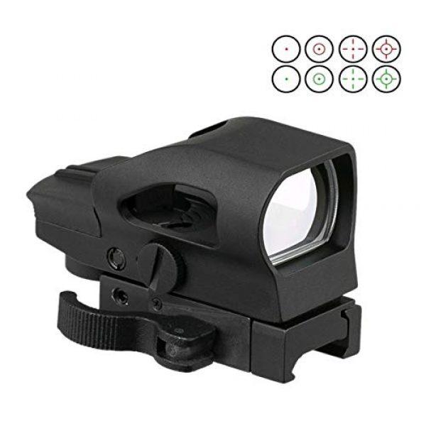 GOTICAL Airsoft Gun Sight 1 GOTICAL 1x22x33 Reflex Sight Multi Dot Sight (Red/Green) 4 Reticles with Quick Release 21mm P-i-c-a-t-i-n-n-y Weaver Mount