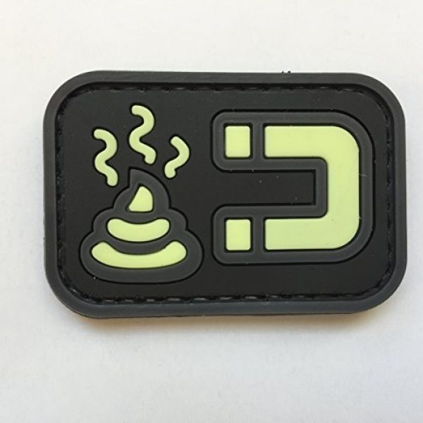 uuKen Airsoft Patch 1 uuKen Tactical Airsoft Poop Magnet Shit Magnet PVC Rubber Patch Funny by Tactical Gear