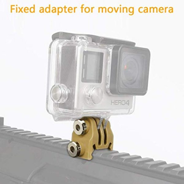 Aoutacc Airsoft Helmet 3 Rail Mounts or Helmet Excavator Mounts Bracket Adapter for Picatinny Rails GoPro Action Camera