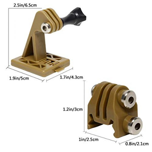 Aoutacc Airsoft Helmet 4 Rail Mounts or Helmet Excavator Mounts Bracket Adapter for Picatinny Rails GoPro Action Camera