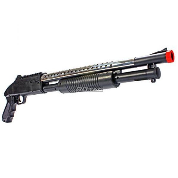 BBTac  5 bbtac airsoft shotgun pump action (starter shotgun series) - pistol grip airsoft shotgun - high bb capacity - 300 fps+ w/ 6mm 0.12g bbs with bbtac warranty & tech support(Airsoft Gun)