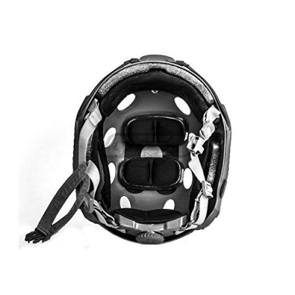 Lancer Tactical Airsoft Helmet 5 Lancer Tactical Airsoft Tactical PJ Type Helmet LRG/XL - Black