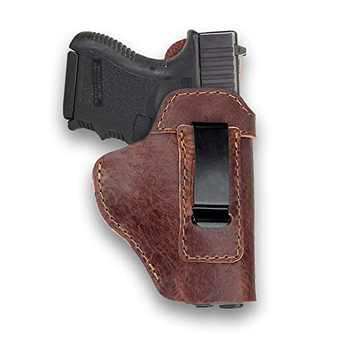 Ree Handmade  1 Ree Handmade Glock 26 IWB Holster Concealed Carry Natural Water Buffalo Hide Soft Sided Leather