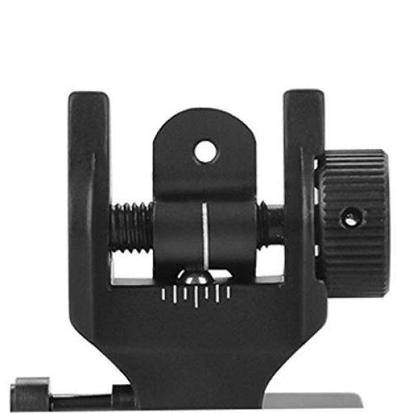 Feyachi Airsoft Gun Sight 7 Feyachi Flip Up Rear Front and Iron Sights Best Backup fits Picatinny & Weaver Rails Black